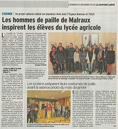article du dauphiné Libéré du 16 décembre 2016