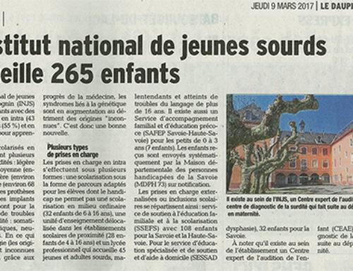A l'occasion de la journée nationale de l'audition, une présentation de l'INJS par le Dauphiné Libéré