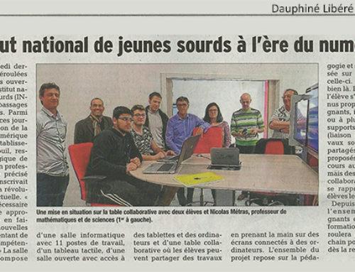 Lors des journées portes ouvertes, l'INJS à l'ère du numérique (Dauphiné Libéré)