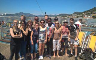 Depart en Corse pour un groupe de lycéens avec découverte de la flore, des cultures et des élevages . Bon séjour à eux.