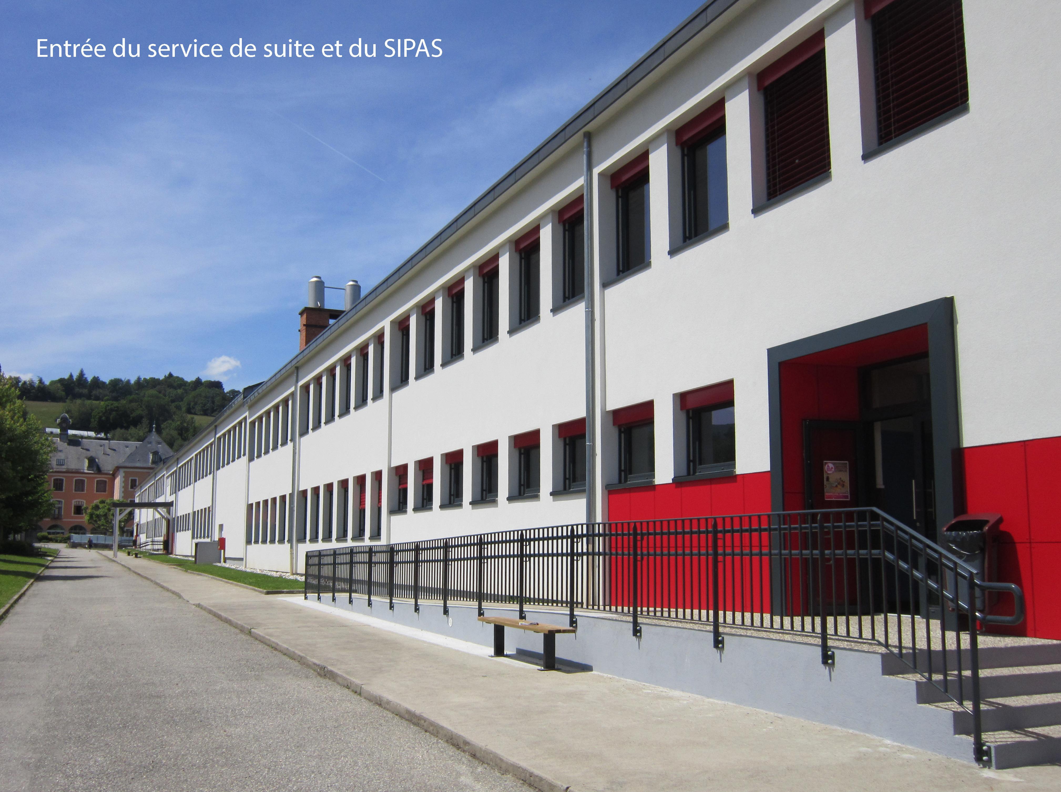 Entrée du Service de suite et du SIPAS