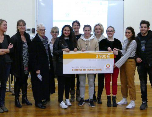 Les porteurs du projet «Surdi'clic» récompensés par Harmonie Mutuelle