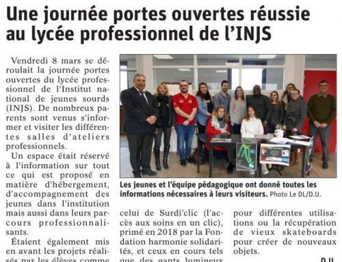 Journées portes ouvertes du lycée professionnel de l'INJS de Chambéry