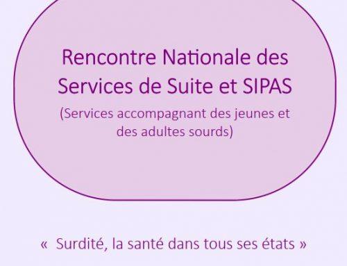 Rencontre nationale des services de suite et SIPAS