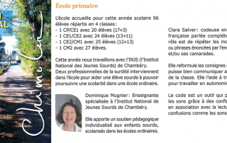 Article du bulletin municipal de Chimilin